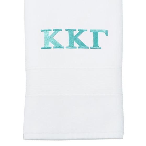 Greek PBdorm Basic Hand Towel, White
