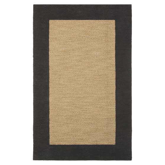 Classic Wool Border Rug, 3x5, Graphite