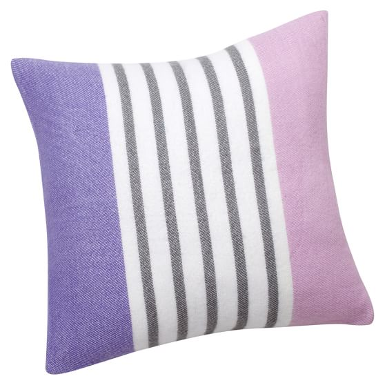 Pattern Play Pillow Cover, 16x16, Purple Stripe