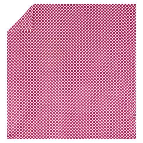 Dots-A-Lot Chamois Duvet, Twin, Pink Magenta