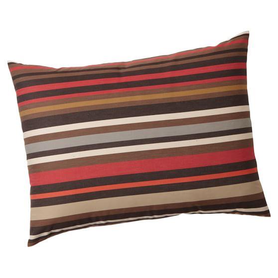 Cliff Stripe Sham, Standard, Brown Multi