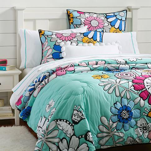 Color Me Floral Quilt, Full/Queen, Multi