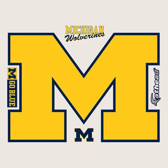 Michigan Wolverines Logo Fathead