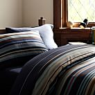 Cliff Stripe Duvet Cover, Twin, Navy