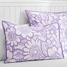 Blooming Garden Superpouf, Standard Sham, Purple