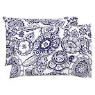 Florennia Pillowcase, Standard, Set Of 2, Midnight Blue