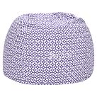 Geo Dot Purple Beanbag, Slipcover Only