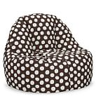 Painted Dot Leanback Lounger, Single, Coffee
