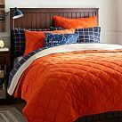 Finley Solid Quilt, Twin, Orange