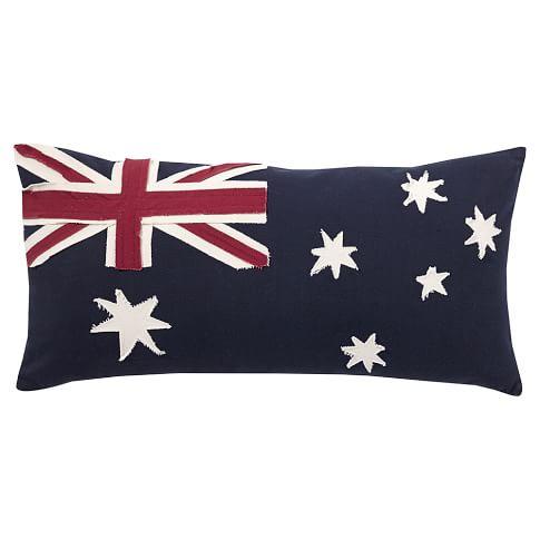 Flag Pillow Cover, 12x24, Aussie