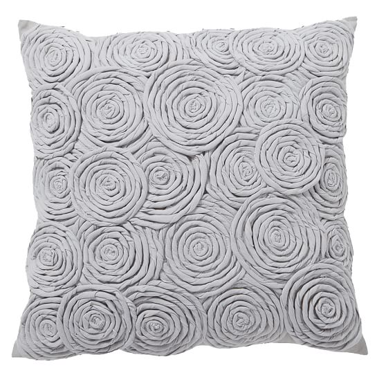 Rose Twist Pillow Cover, 16x16 Rose Twist Grey