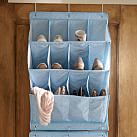 Over the Door Shoe Rack, Navy Minidot