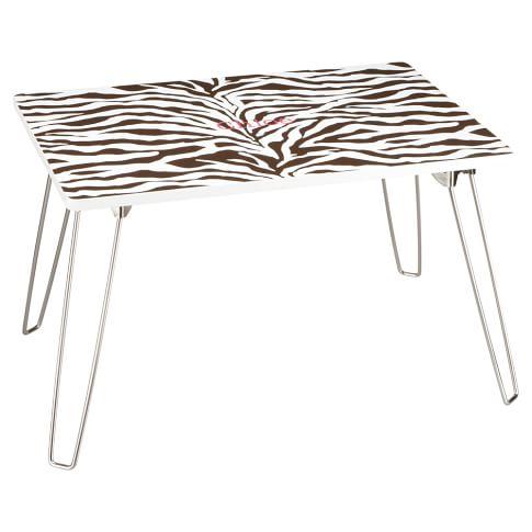 Zebra Flip-Out Lap Desk, Brown Zebra
