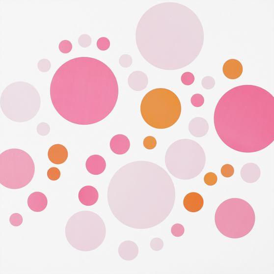 Bubble Dot Surf Decal, Pink/Orange