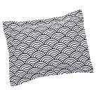 Quincy Scallop Standard Sham, Black