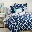Lucky Clover Reversible Duvet Cover, Twin, Royal Navy