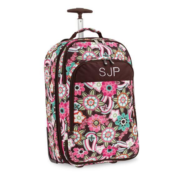 Ocean Floral Jet-Set Rolling Carry-On Suitcase, Warm