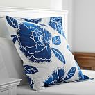 Floral Duvet Cover Euro Sham, Royal Navy