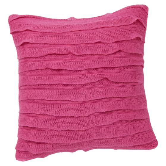 Ruffle Pillow Cover, Deep Pink