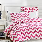 Chevron Duvet Cover, Full/Queen, Pink Magenta