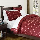 Creature Comfort Duvet Cover, Twin, Bulldog Red