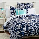Morgan Floral Duvet Cover, Twin, Royal Navy