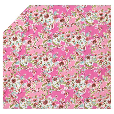 Painted Petals Duvet Cover, Full/Queen, Pink Multi