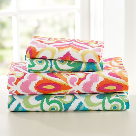 Portofino Sheet Set, Queen, Pink Multi