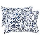 Emma Garden Extra Pillowcases, Set of 2, Royal Navy