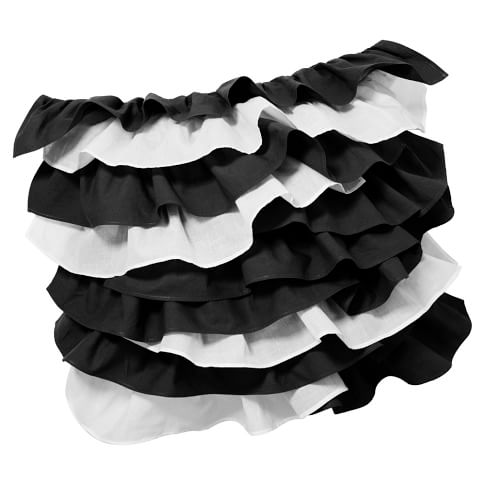 Tilly Pillow Cover, 16x16, Black