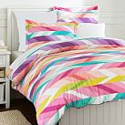 Ikat Stripe Duvet, Twin, Multi