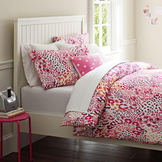 Cheetah Duvet Cover, Pink Multi, Twin