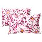 Daisy Dot Extra Pillowcases, Set of 2, Pink Magenta