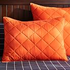 Finley Solid, Standard Sham, Orange