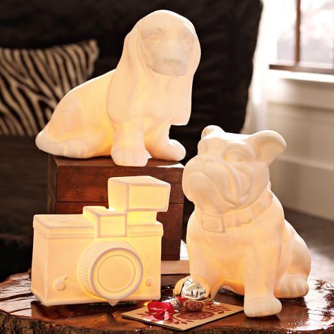 Keep It Light Lamp, White French Bulldog