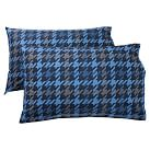 Houndstooth Extra Pillowcases, Set of 2, Navy