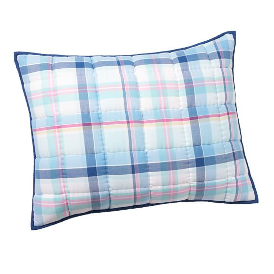 Newport Plaid Standard Sham, Blue Multi