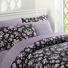 Sunwashed Floral Duvet Cover, Twin, Black
