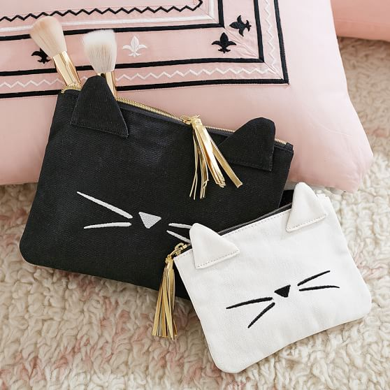 cat theme makeup pouch