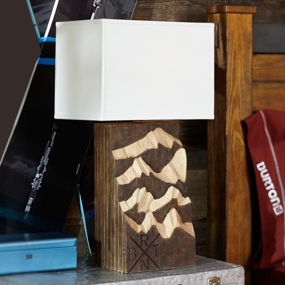 Burton Peaks + Powder Table Lamp