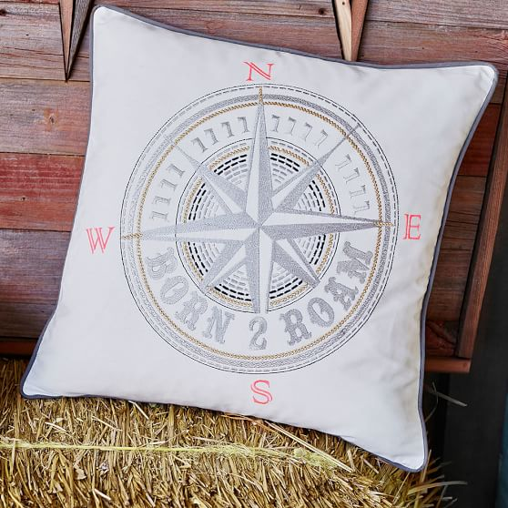 Throw Pillows Primark : Junk Gypsy Born To Roam Compass Pillow Cover PBteen