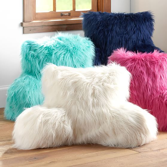 Faux Fur Rific Lounge Around Pillow Cover Pbteen