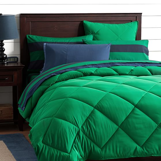 Kelly green comforter classic plush comforter sham bright green