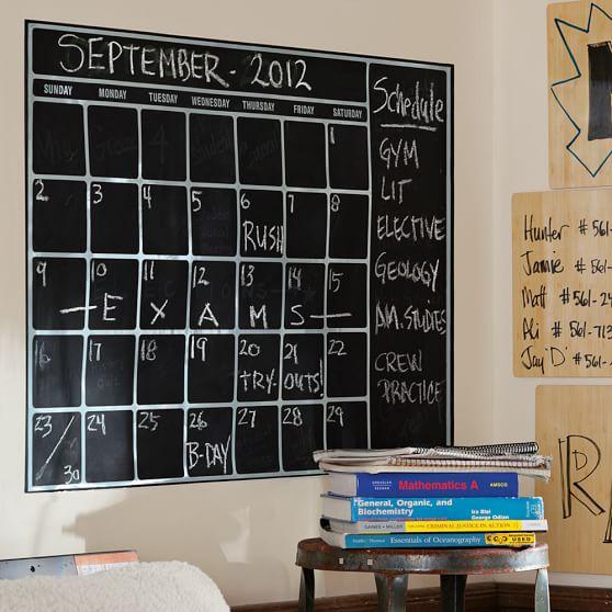 Chalkboard Calendar Wall : Chalk calendar wall decal pbteen