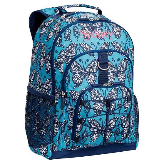 Gear-Up Navy Butterflies Backpack