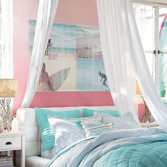 girl surf and beach wall mural pbteen