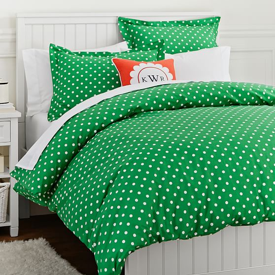 Dottie Duvet Cover Sham Kelly Green Pbteen