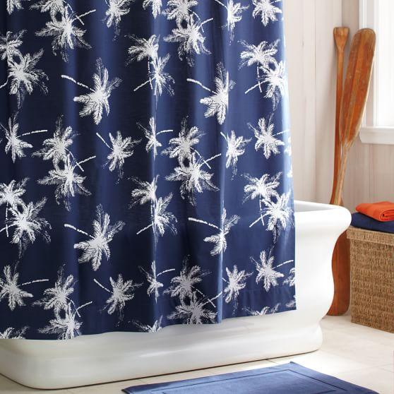 Palm Organic Shower Curtain Pbteen