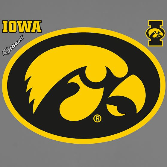Iowa Hawkeyes Logo Fathead Pbteen