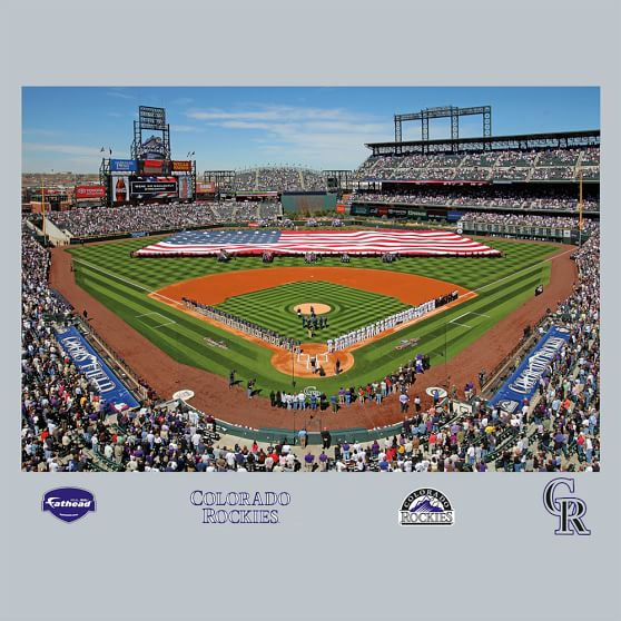Colorado rockies coors field stadium mural fathead pbteen for Baseball stadium wall mural